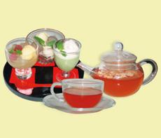 九月堂の定番甘味の3種盛りと香るお茶セット