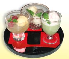 九月堂の定番甘味の3種盛り